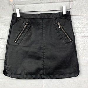 Urban Outfitters Vegan Leather Biker Mini Skirt